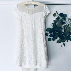 Anthropologie Arève white mini dress